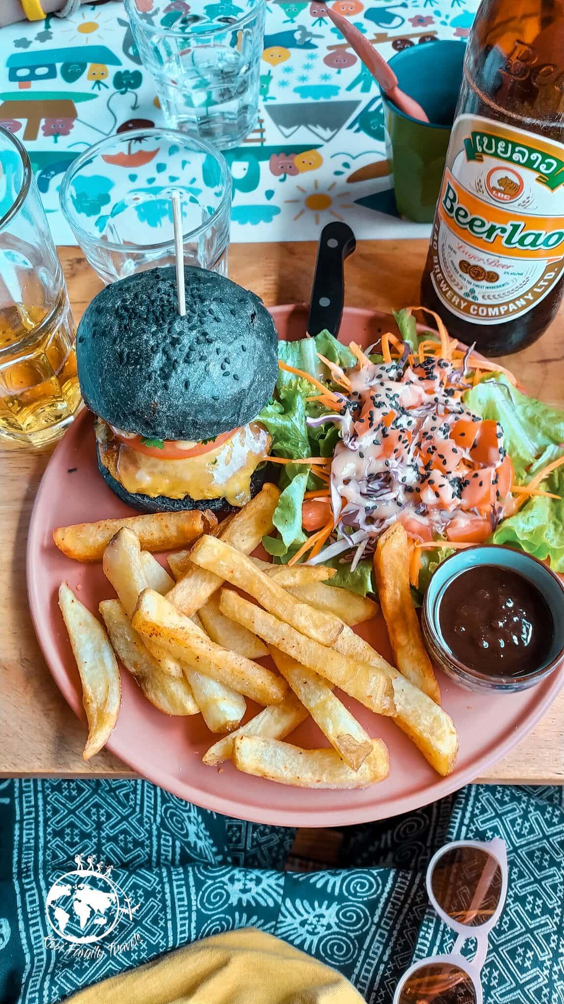 Hamburger du restaurant